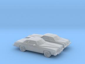 1/160 2X 1977 Pontiac Grand Prix in Smooth Fine Detail Plastic