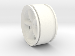 Mach 5 1.9 Beadlock Wheel 12mm hex +3mm offset in White Processed Versatile Plastic