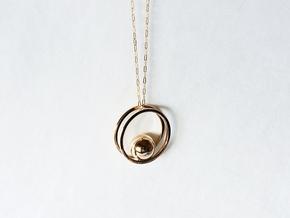 Balance Pendant - Minimalist Necklace in Polished Bronze