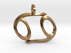Cancer (Zodiac)- Pendant in Natural Brass