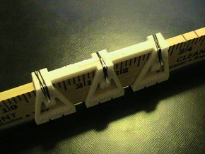 """TrackToolz 1 1/2"""" Track Spacing Jigs in White Natural Versatile Plastic"""