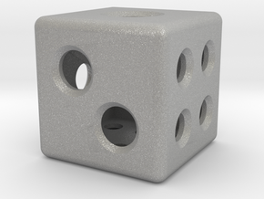 Loaded Hollow Dice (D6) (1.5cm) in Aluminum