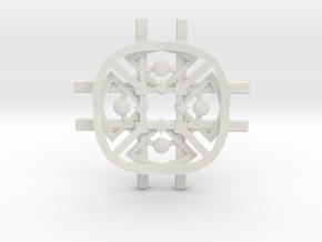 NeoNordic Cross necklace  in White Natural Versatile Plastic