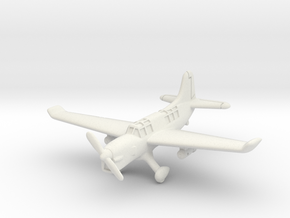 Curtiss SO3C Seamew (with landing gear) 6mm 1/285 in White Natural Versatile Plastic