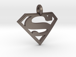 Superman Keychain in Stainless Steel