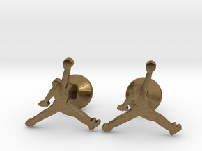 Jumpman Cufflinks in Natural Bronze