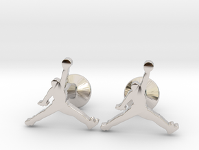 Jumpman Cufflinks in Platinum