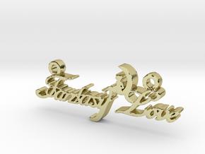 Fantasy Love® Pendant  in 18k Gold Plated Brass