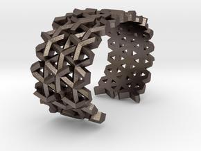 Parametric Bracelet in Polished Bronzed Silver Steel