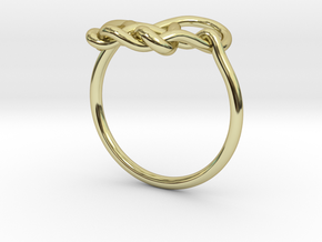 Heart Knot Ring in 18k Gold