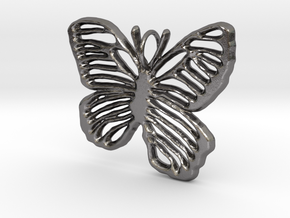 Life is Strange Butterfly Pendant in Polished Nickel Steel