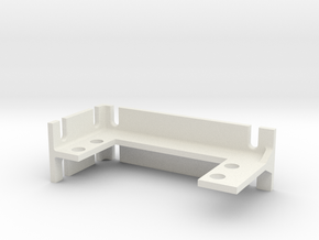 Servo mounting bracket (for standard servo size) in White Natural Versatile Plastic
