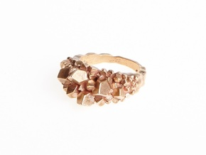 Crystal Ring Size 8 in Raw Bronze