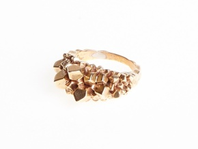 Crystal Ring Size 8 in Polished Bronze