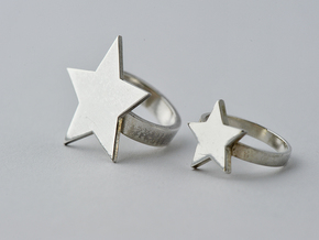 Silver Star Ring (Size S) in Polished Silver