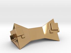 Geometric Chopstick Holder in Polished Brass