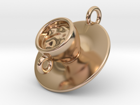 Cup Of Coffee in 14k Rose Gold Plated Brass