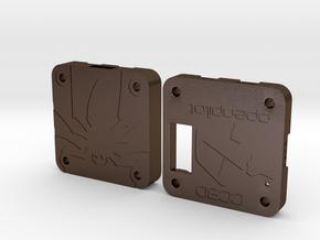 OpenPilot CC3D Case in Polished Bronze Steel