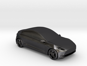 1/50 Tesla Model 3 in Polished and Bronzed Black Steel