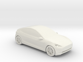1/50 Tesla Model 3 in White Natural Versatile Plastic