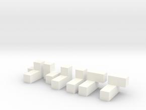 3x3x3 Puzzle in White Processed Versatile Plastic