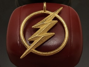 The Flash Keychain in Polished Gold Steel