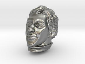 1/12 Ayrton Senna Head Sculpt in Natural Silver