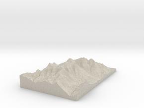 Model of Sphinx Trail in Natural Sandstone