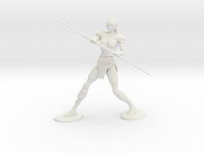 Armored Female Elf  in White Natural Versatile Plastic: Medium