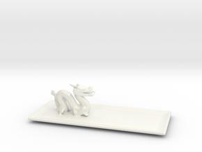 Dragon Plate  in Gloss White Porcelain