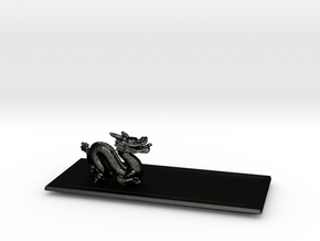 Dragon Plate  in Matte Black Steel