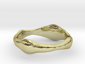 Dog Ring in 18k Gold Plated Brass