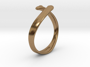 """I Love You"" Ring in Natural Brass"