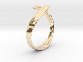 """""""I Love You"""" Ring in 14k Gold Plated Brass"""