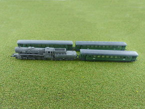 German Steam Passenger Train 1/285 6mm in Frosted Ultra Detail