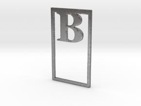 Bookmark Monogram. Initial / Letter  B  in Natural Silver