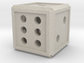 Traditional Dice in Natural Sandstone