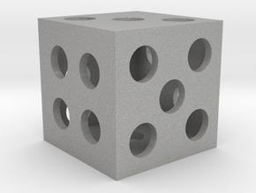 Hollow Square Dice in Aluminum