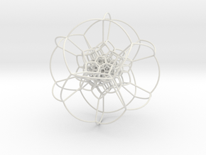 120-cell stereographic, small in White Natural Versatile Plastic