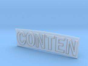 CONTEN in Smooth Fine Detail Plastic