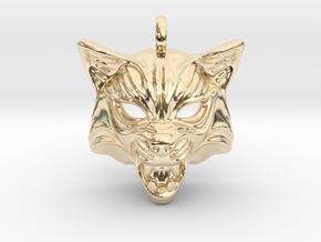 Fox Type 2 Small Pendant in 14K Yellow Gold