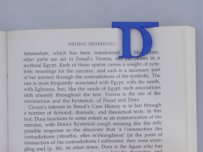Bookmark Monogram. Initial / Letter  D  in Blue Processed Versatile Plastic