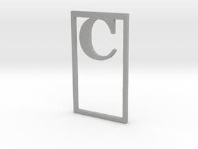 Bookmark Monogram. Initial / Letter  C  in Aluminum