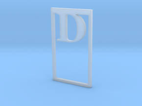 Bookmark Monogram. Initial / Letter  D  in Smooth Fine Detail Plastic