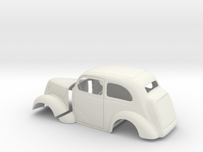 1/8 1949 Anglia Full Body Tilt Front in White Natural Versatile Plastic