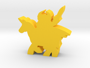 Game Piece, Warrior Pegasus in Yellow Processed Versatile Plastic