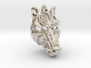 Zebra Small Pendant in Platinum