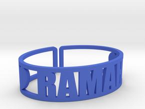 Ramah Cuff in Blue Processed Versatile Plastic