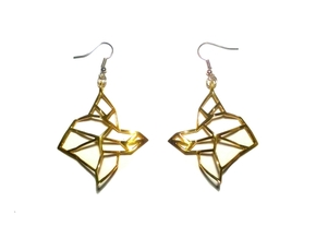 FabGeo Earrings in Polished Brass
