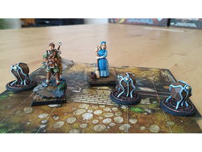 Summoned Stone tokens (3 pcs) in White Strong & Flexible Polished